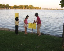 Monona Bay Fish Advisory Sign & Fish Fry
