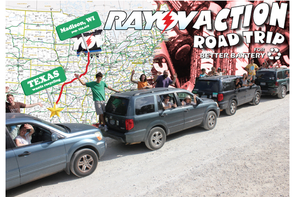 MEJO supporting RayovACTION Road Trip for Battery Recycling