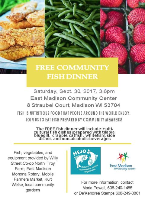 Free Community Fish Dinner, Sept. 30